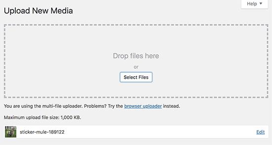 حل خطای HTTP Image Upload در وردپرس